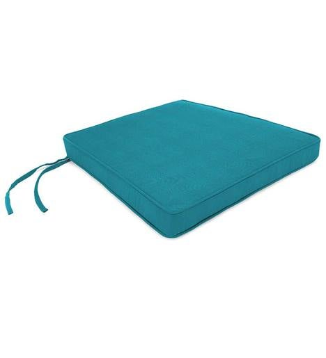 "Deluxe Sunbrella Tapered Rocker Seat Cushion with ties 21"" front/17"" back x 19"" x 3"""