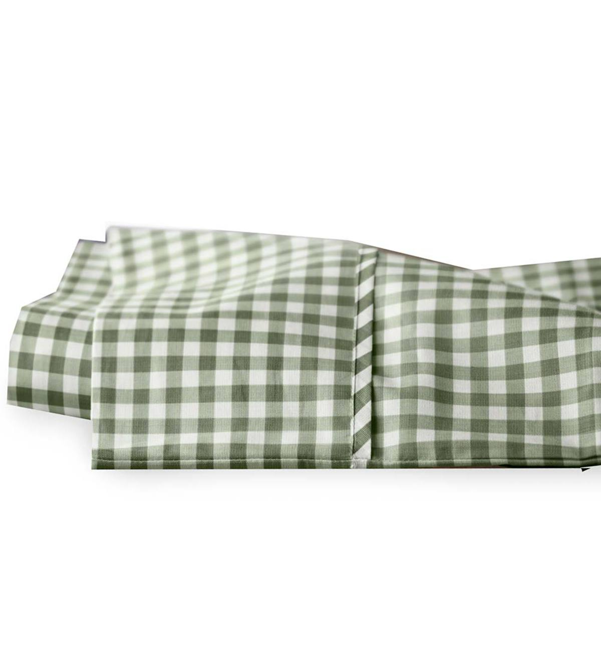 King Gingham Cotton Percale Sheet Set Natural Plowhearth