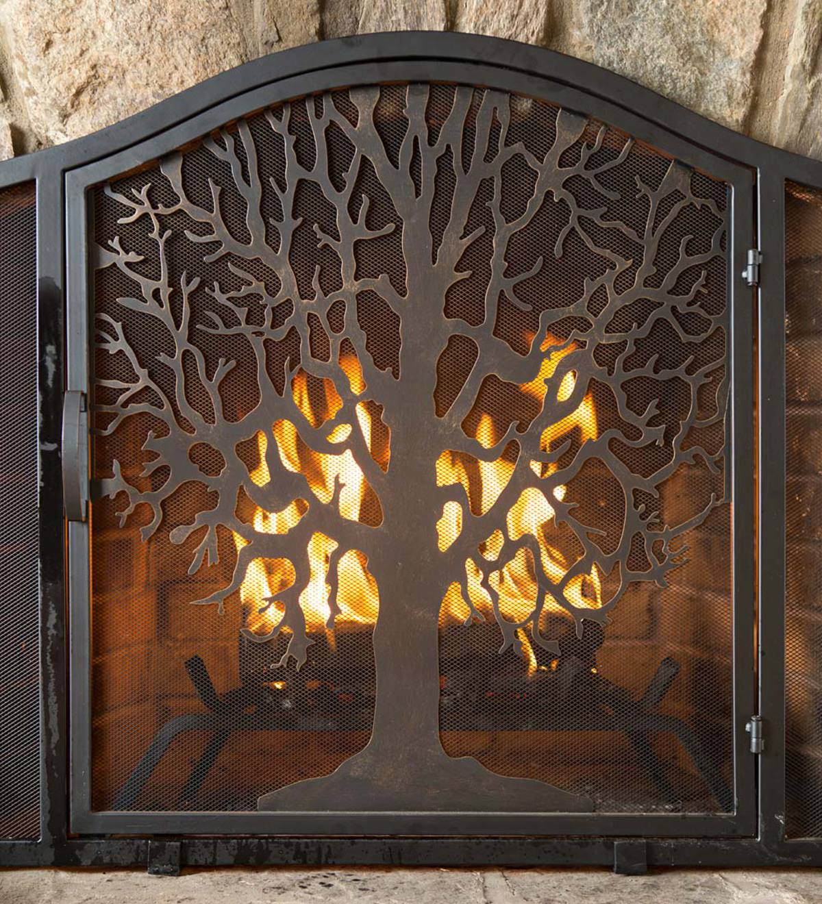 Small Tree of Life Fire Screen with Door