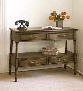 Whispering Pines Console Table with Four Drawers