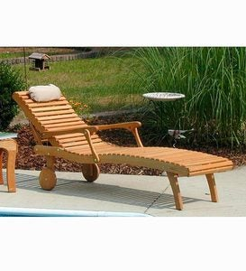 USA–Made Appalachian White Oak Chaise Lounge