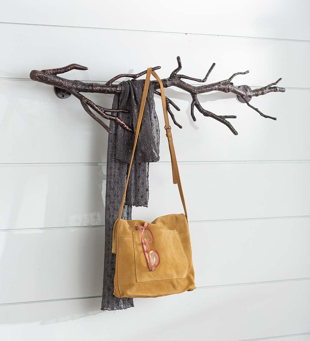 Recycled Aluminum Vertical/Horizontal Branch Coat Rack