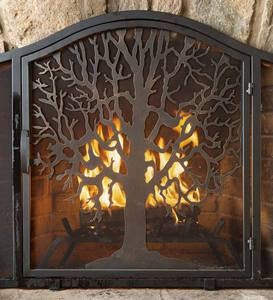 Large Tree of Life Fire Screen with Door