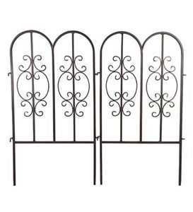Montebello Iron Garden Fencing, Set of 4