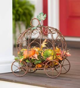 Lighted Pumpkin Carriage