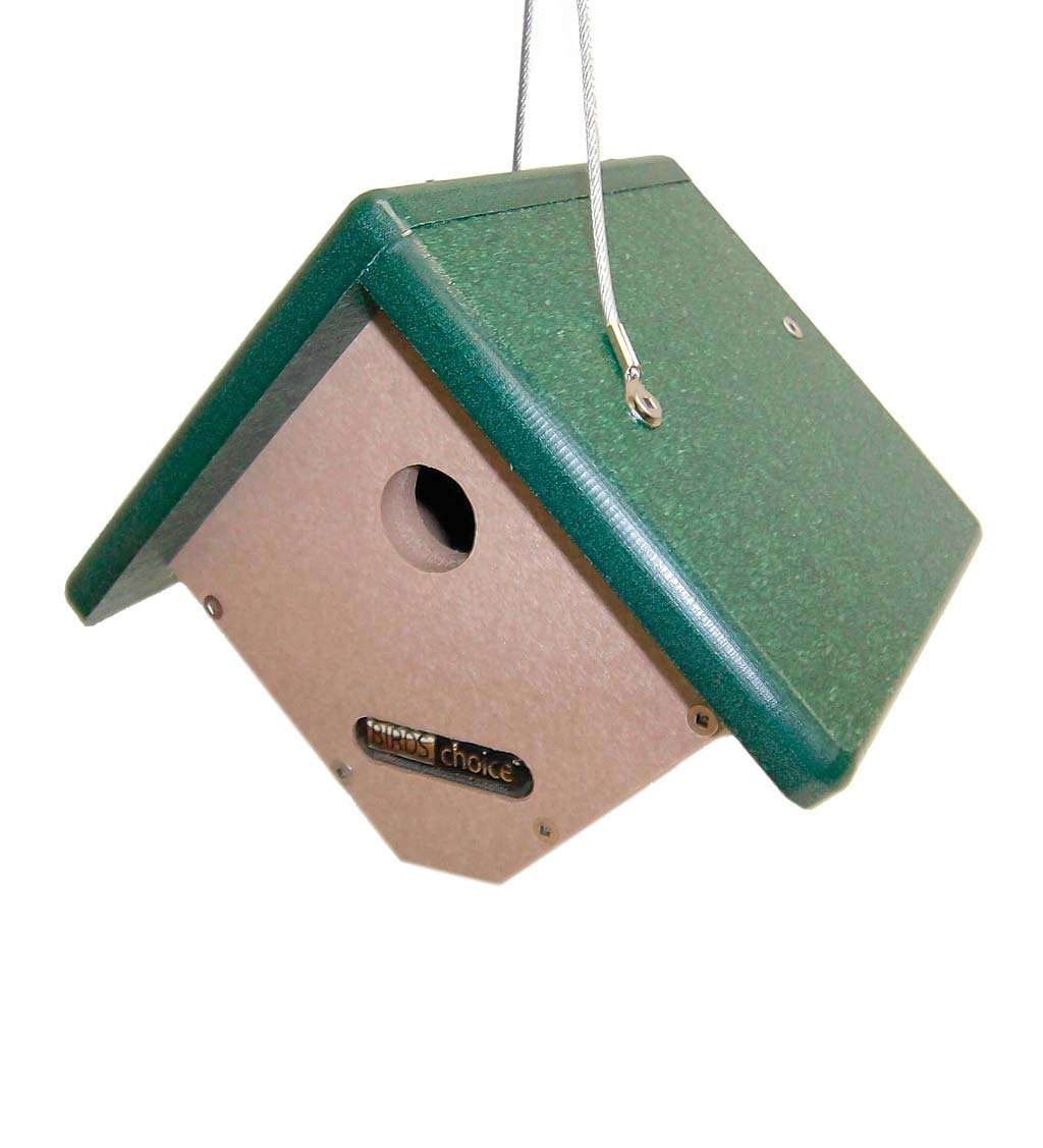 Recycled Plastic Poly-Lumber Hanging Wren House