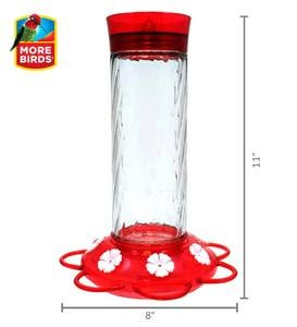 Diamond 30-Ounce Glass-Bottle Hummingbird Feeder