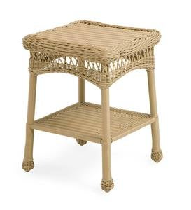 Easy Care Resin Wicker End Table