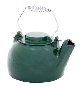 Cast Iron Steamer Kettle With Porcelain Enamel Finish