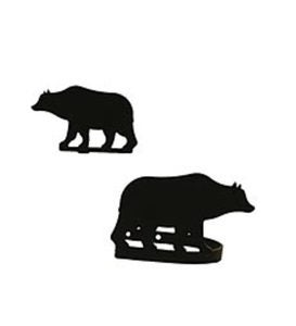USA-Made Wrought Iron Curtain Tiebacks - Bear