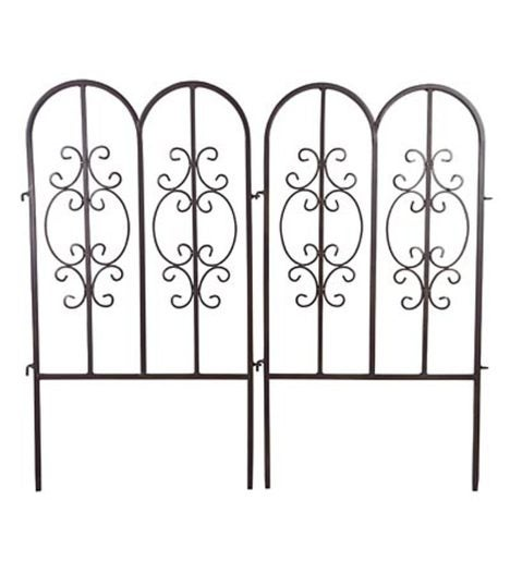 Montebello Iron Garden Fencing, Set of 2
