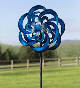 Blue Waves Wind Spinner