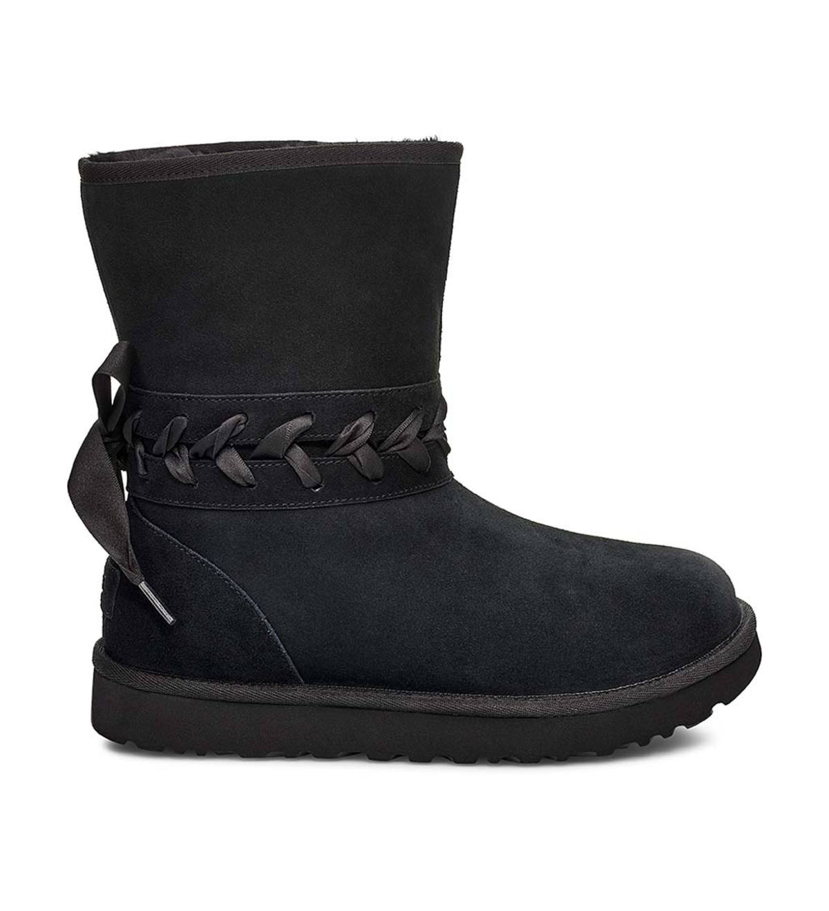 UGG Classic Lace Short Boots - Black