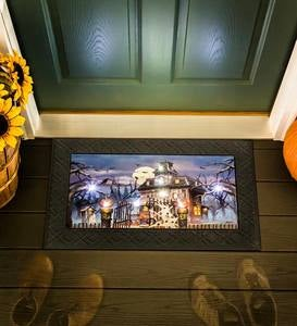 Halloween Haunted House LED Light-Up Musical Door Mat
