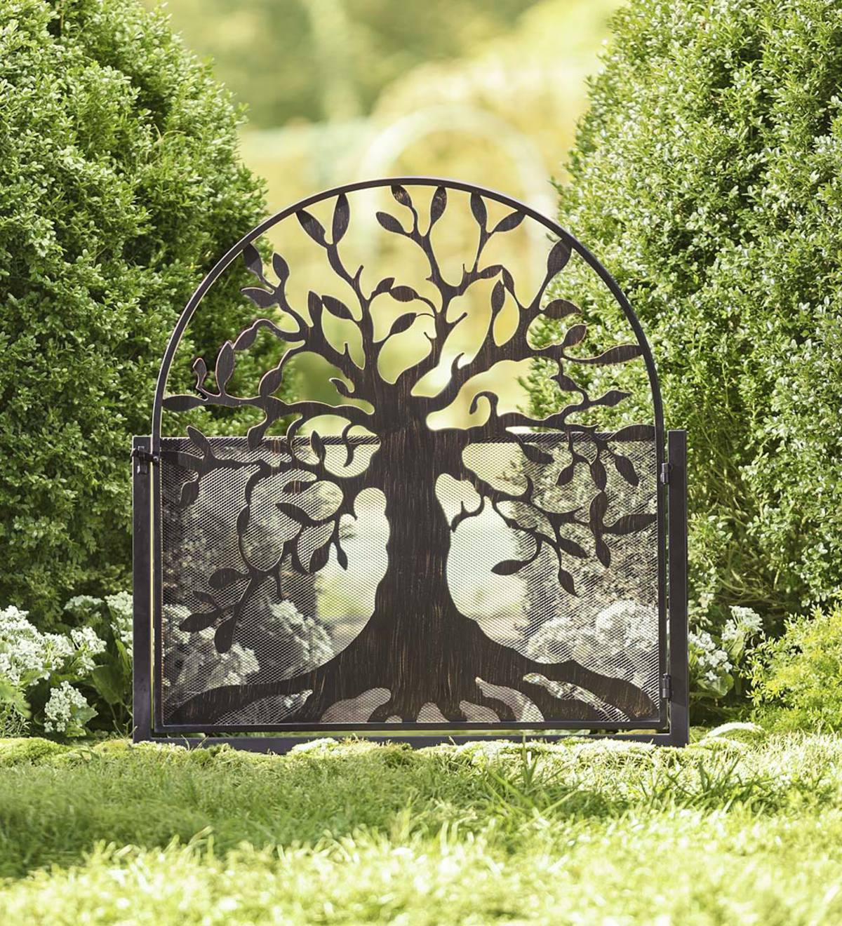 Metal Garden Gate With Tree Of Life Design Arbors