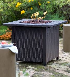 Wicker Propane Gas Fire Pit