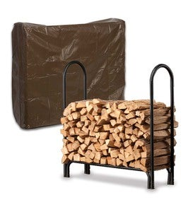 Medium Log Rack And Cover Set