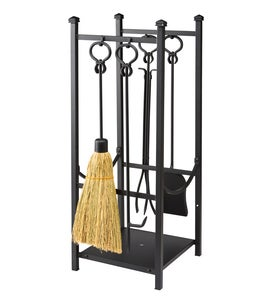 Wood Rack With Fireplace Tools