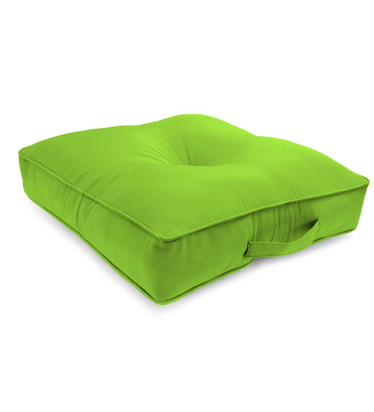 "Polyester Classic Tufted Floor Cushion With Handle, 20"" sq. x 4"""