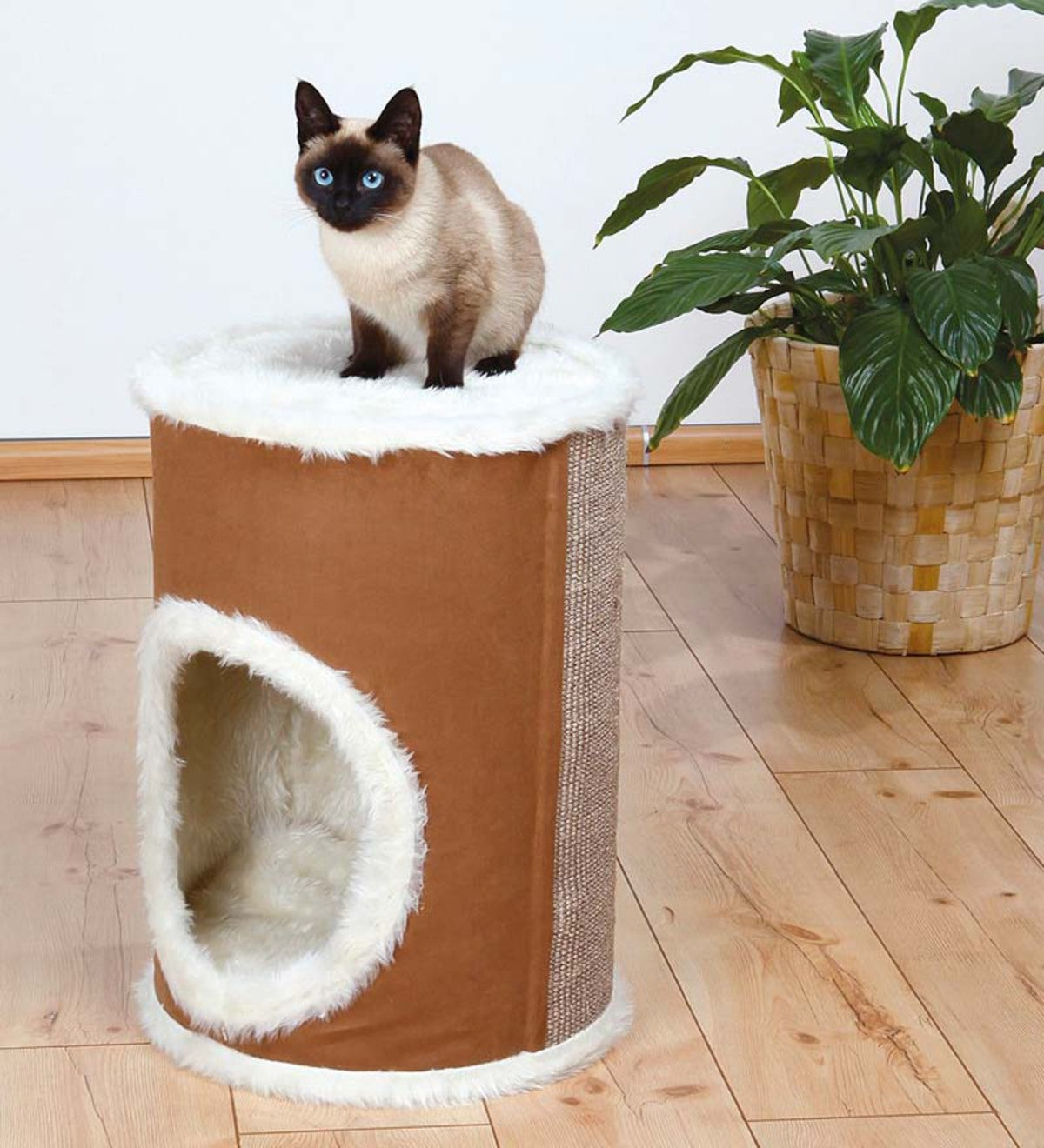 Adamo Plush Luxury Cat Tower - Cream