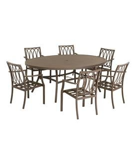 Topsail Oval Dining Table and Six Dining Chairs