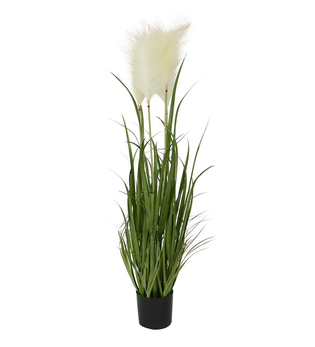 Indoor/Outdoor Faux Pampas Grass Potted Plant