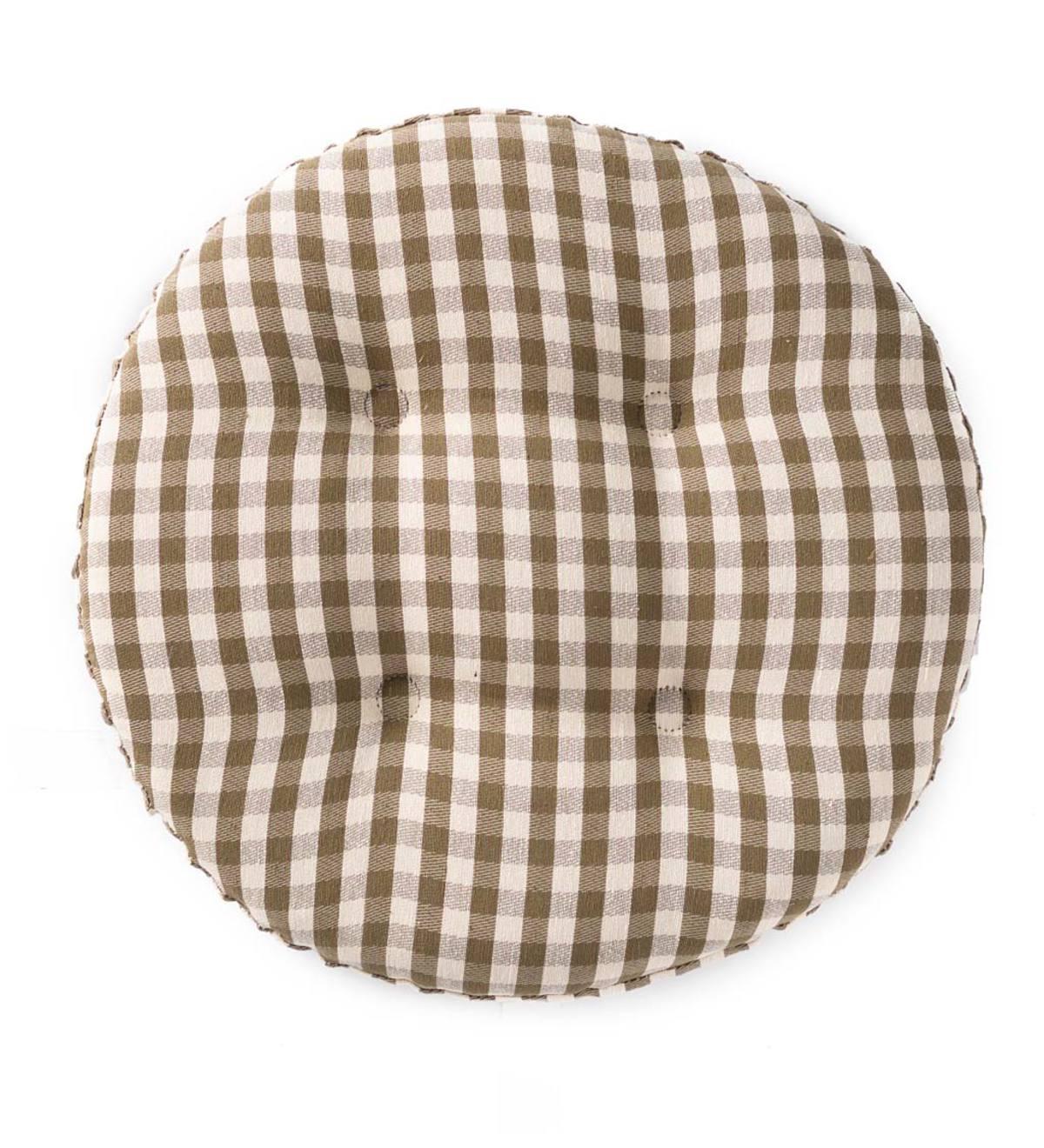 Non Slip Gingham Bar Stool Pad Chair Cushions Amp Chair