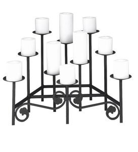 Iron Fireplace Candelabra with Ten Tiers