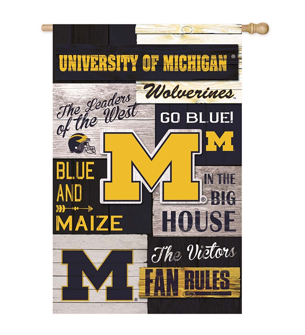 Double-Sided Fan Rules College Team Pride Linen House Flag swatch image
