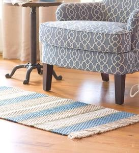 Jute Rug, Handwoven Striped Design, 2' x 4' - GR