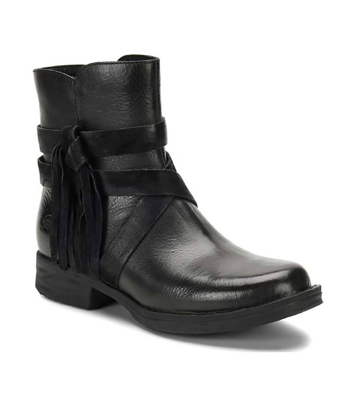 Born Perl Short Boots - Black - Size 6