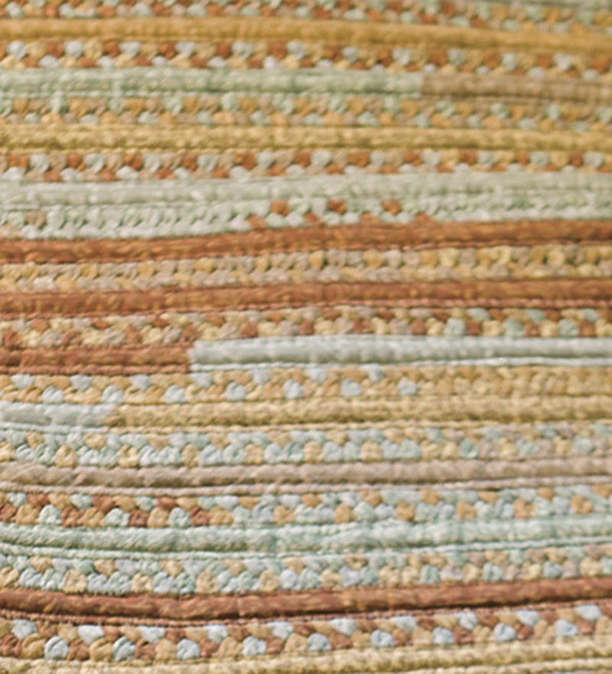 Oval Braided Runner, 2'W x 8'L - Beige