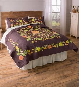 Autumn Splendor Cotton Quilted Bedding