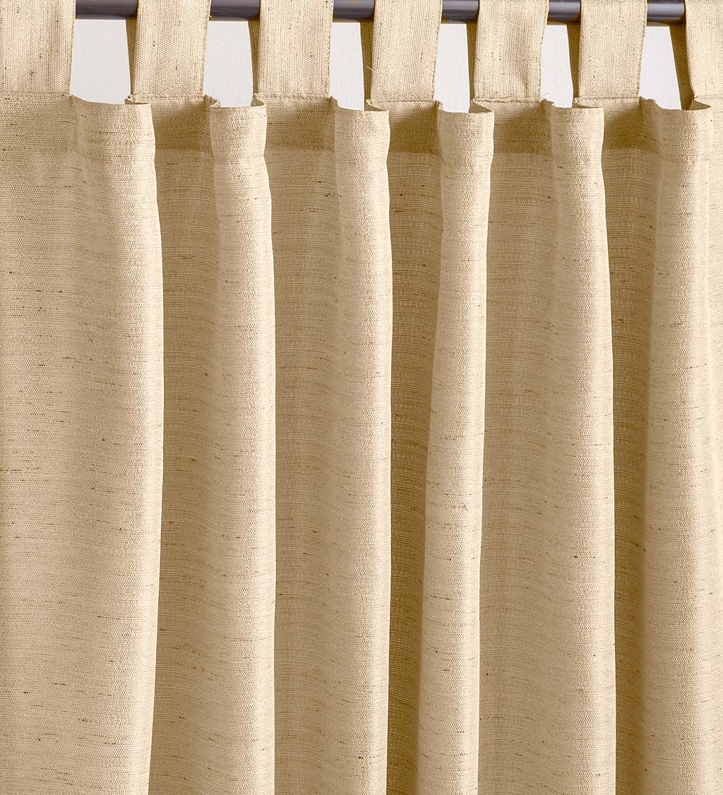 "Grasscloth Outdoor Curtain Panel with Tab Top, 54""W x 108""L swatch image"