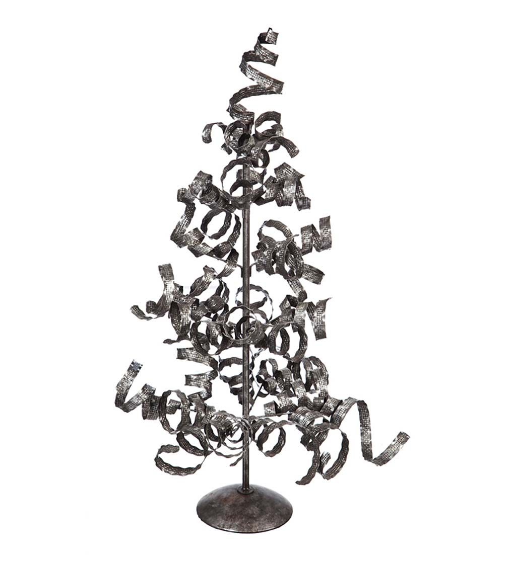 Large Galvanized Metal Spiral Tree