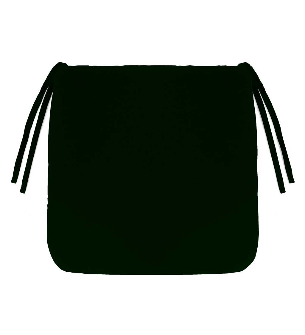 "Polyester Classic Chair Cushions With Ties, 16"" sq. x 3"""