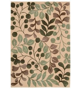 "Contour Ferns And Berries Rug, 3'6""x 5'6"" - Chocolate"