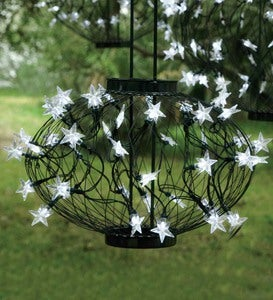 Large Green Solar Star Lantern