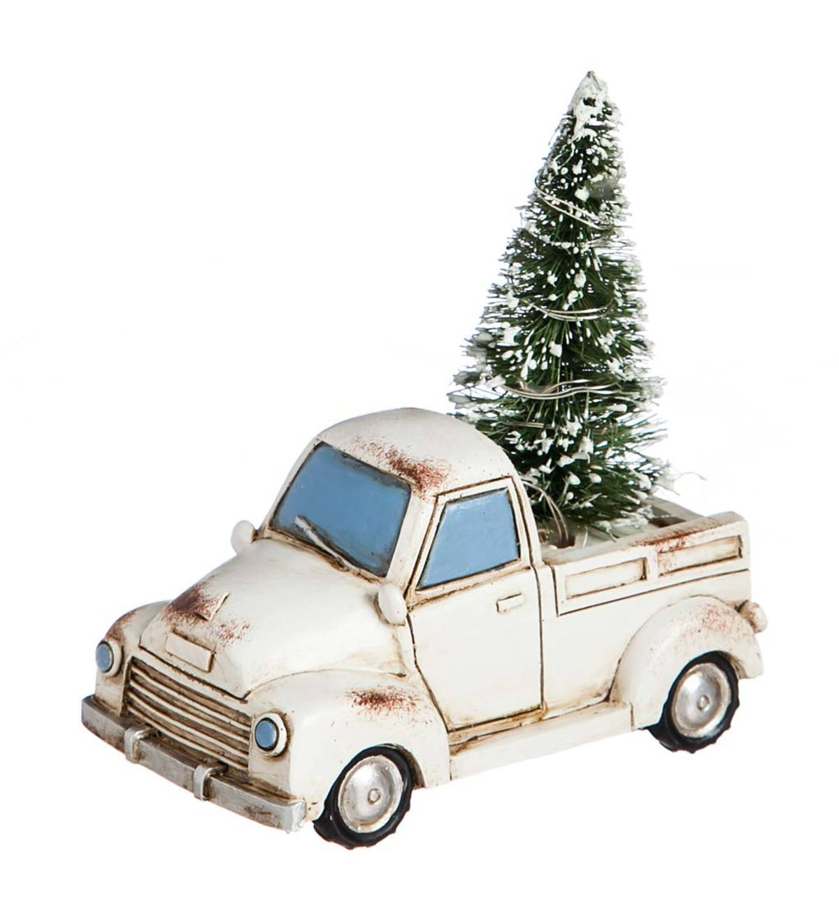 Mini Holiday Cream Truck with Lighted Tree