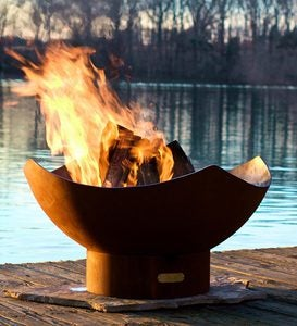 American-Made Firepit Art Manta Ray Fire Pit