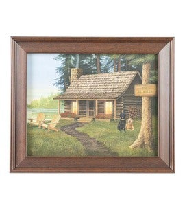 Personalized Cabin Framed Print