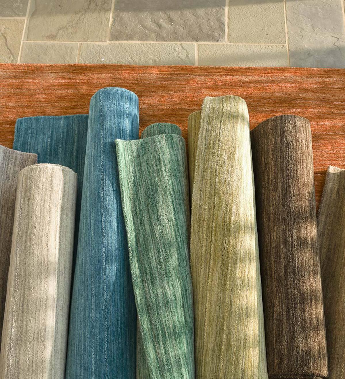 9 X 13 Santa Clara Wool Rug Charcoal Plowhearth