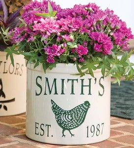 USA-Made Handcrafted Personalized Chicken Crock