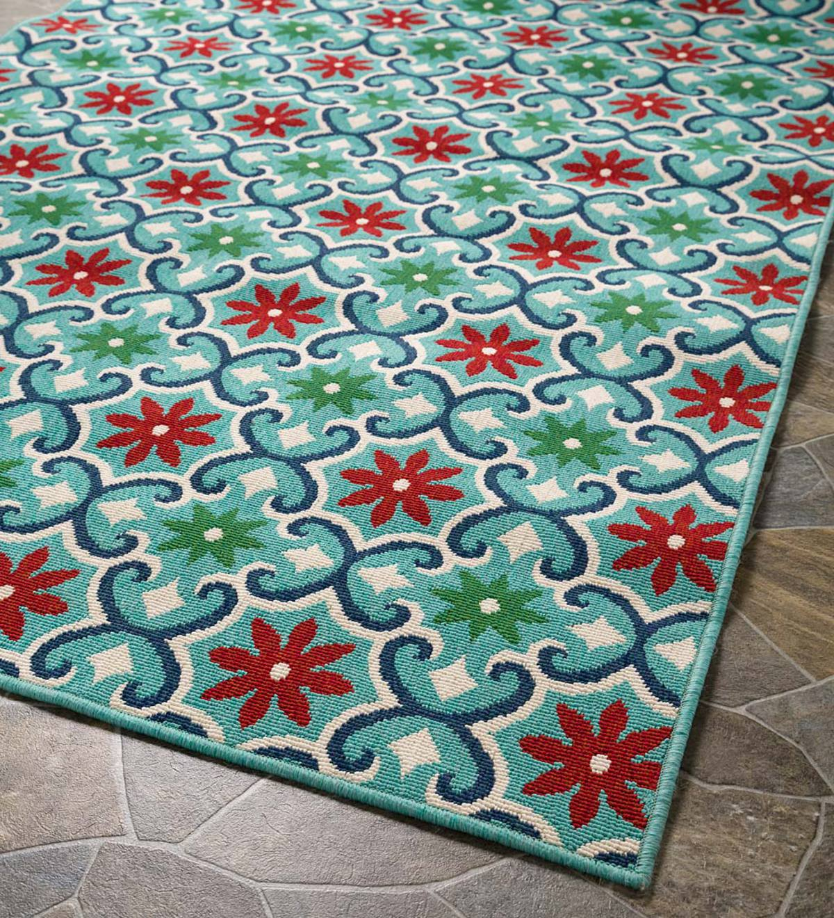 "Indoor/Outdoor Lexington Floral Rug, 1'10""x 2'10'"