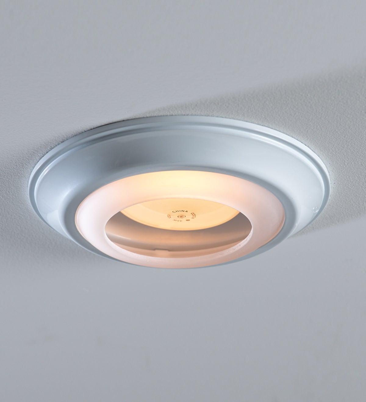 Simple trim recessed light cap ring white
