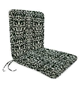 "Sale! Polyester Classic Chair Cushion With Ties, Seat 19""x 17""x 2½""; Back 19""x 19""x 2½"""