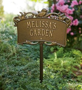 Personalized Aluminum Garden Sign