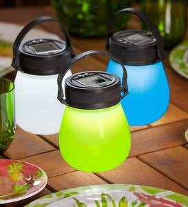 Solar Firefly Lantern in Waterproof Collapsible Silicone