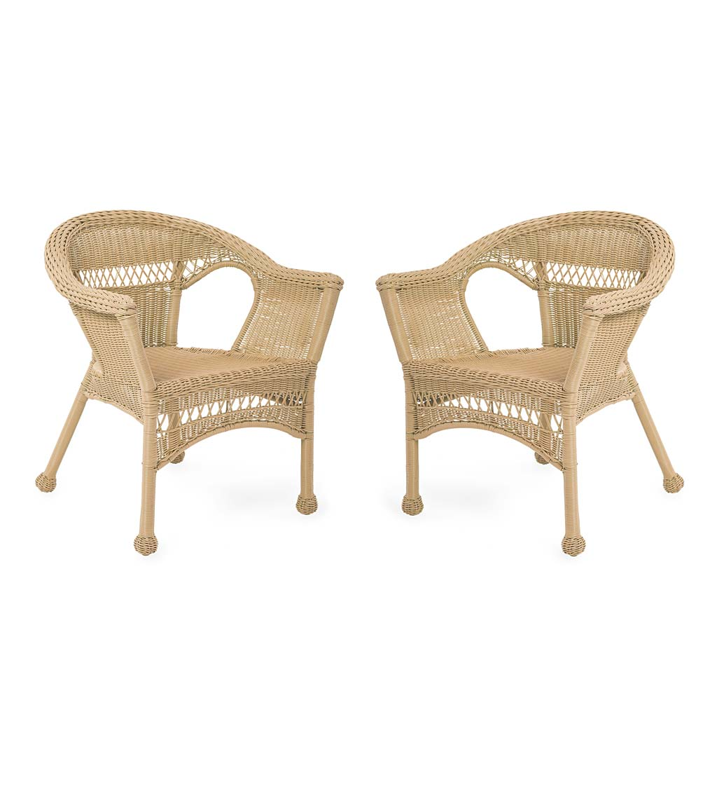 Easy Care Resin Wicker Chairs, Set of 2