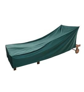 Classic Outdoor Furniture All-Weather Cover for Long Chaise - Green